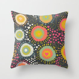 abstract organic texture Throw Pillow