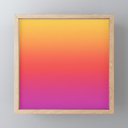 Ombre Colorful Summer Gradient Pattern Framed Mini Art Print