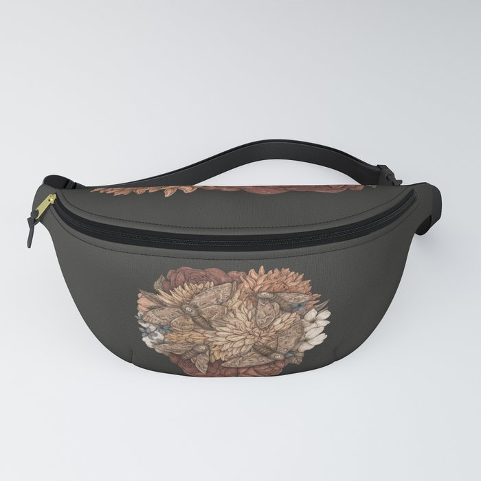 Flowers and Moths Fanny Pack