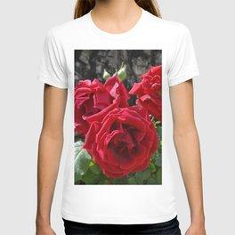 Beautiful Garden Red Roses Bouquet T-shirt