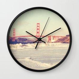 Golden Gate Bridge. Love Song Wall Clock