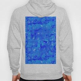 Tie Dye Shibori Water Cubes in Ocean Blue Hoody