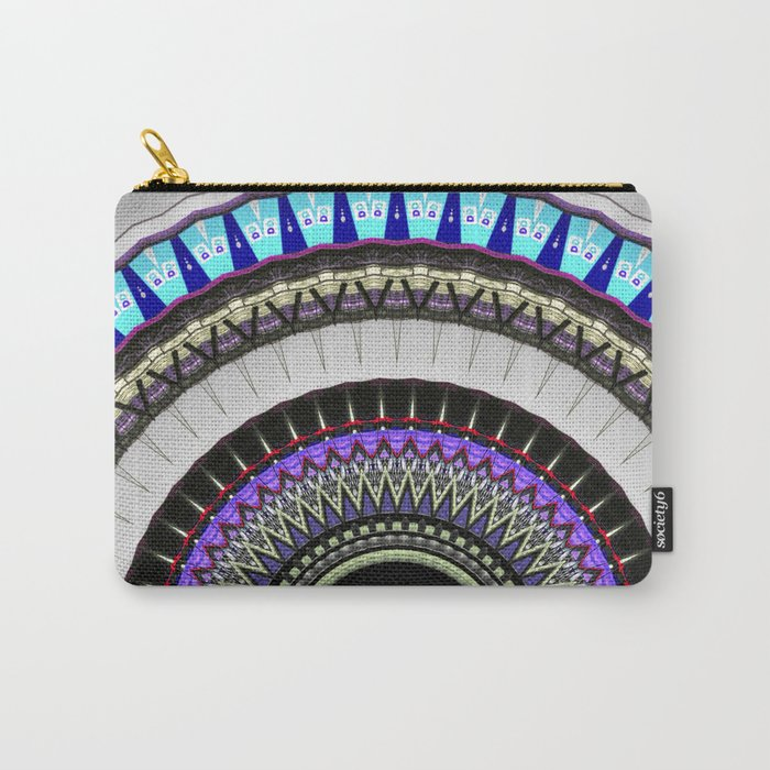 gray blue mandala Carry-All Pouch