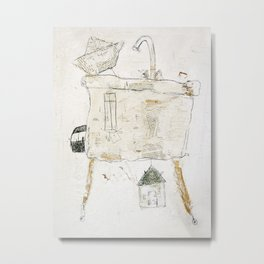 washbasin- transport Metal Print