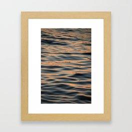 Sunset on the Water I Framed Art Print
