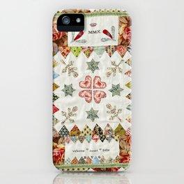 Nancy Horsfall's Crib Quilt iPhone Case