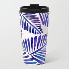 Tropical Banana Leaves – Indigo Palette Metal Travel Mug