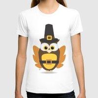 thanksgiving T-shirts featuring Owl Thanksgiving by Yatasi