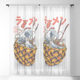 Great vibes ramen Sheer Curtain