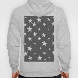 Hand-Drawn Stars (White & Grey Pattern) Hoody