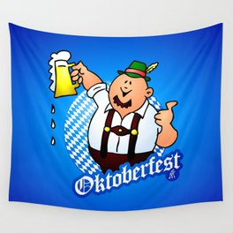 Oktoberfest - man in lederhosen Wall Tapestry