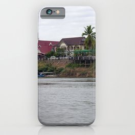 Colonial Houses on the Mekong River, Laos iPhone Case