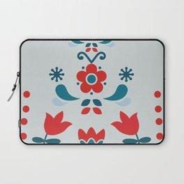 Retro Nordic Folk Laptop Sleeve