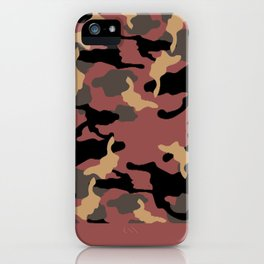 Marsala and Camo  iPhone Case