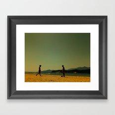 Sea kids Framed Art Print