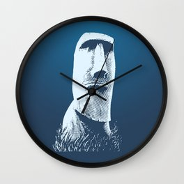 Moai #1 Wall Clock
