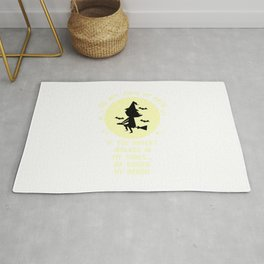 Womens Do Not Judge My Path, Funny Halloween Witch Quotes Gift Rug
