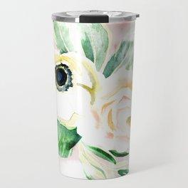 Impermanent Flowers in Pink Travel Mug