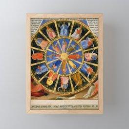 "Fra Angelico (Guido di Pietro) ""The Mystical Wheel (The Vision of Ezekiel)"" Framed Mini Art Print"