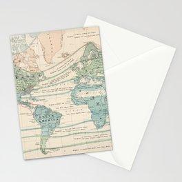 Vintage World Forest Map (1870) Stationery Cards