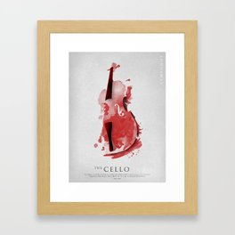 Symphony Series: The Cello Framed Art Print