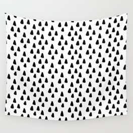 Black and white triangles pattern - classy college student collection Wall Tapestry