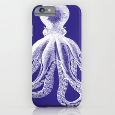 Octopus   Navy Blue and White iPhone 6s Slim Case