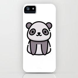 Just a Cute Panda iPhone Case