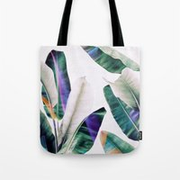 tropical Tote Bags featuring tropical #1 by LEEMO