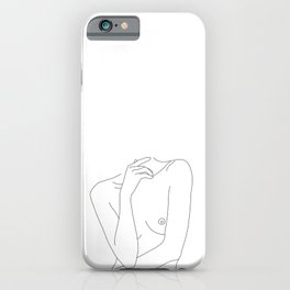 Woman's body line drawing - Cecily iPhone Case