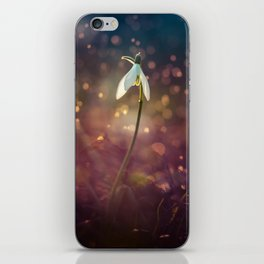 Snowdrops in the afternoon rain iPhone Skin
