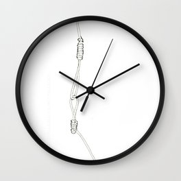Noose on a noose Wall Clock