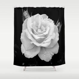 Johann Strauss Rose-BW Shower Curtain