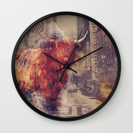 Sightseeing Cattle Wall Clock