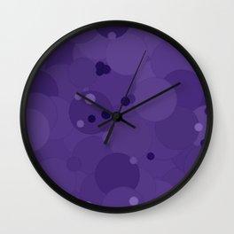 Gentian Violet Bubble Dot Color Accent Wall Clock