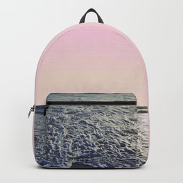 When The Waves Kiss The Shore Backpack
