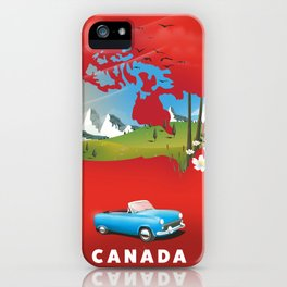 Canada illustrated travel poster. iPhone Case