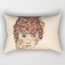 """Egon Schiele """"Portrait of Edith Schiele"""" Rectangular Pillow"""