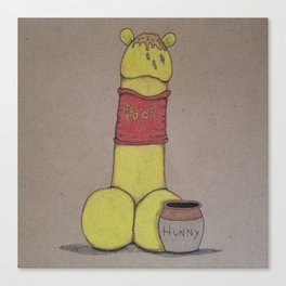 Weenie-The-Pooh-Dick Canvas Print