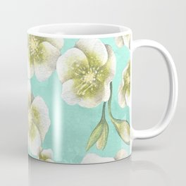 Blue, yellow and white flowers Coffee Mug