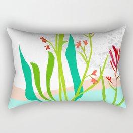 Kangaroo Paw Botanical Illustration Rectangular Pillow