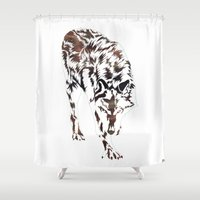 hunter Shower Curtains featuring Hunter by Stevyn Llewellyn