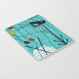 Mid-Century Tiki Tok Notebook