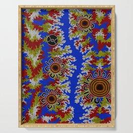 Authentic Aboriginal Art - Waterholes Corela Serving Tray