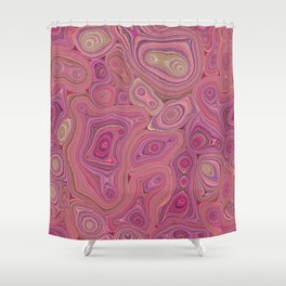 Mineralicious-Pink Agate Shower Curtain