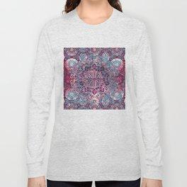 Vintage Boho Burgundy Mandala Long Sleeve T-shirt