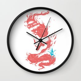 Death of the fire dem Wall Clock