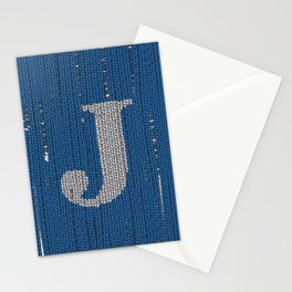 Winter clothes. Letter J II. Stationery Cards