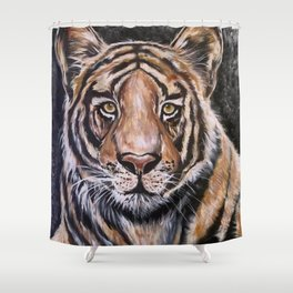 Fierce and Cuddly Tiger Shower Curtain