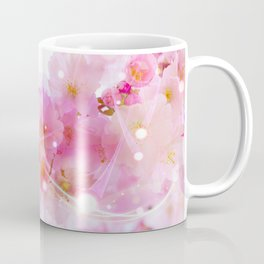 Japanese Sakura Tree with Pastel Pink Blossoms Coffee Mug